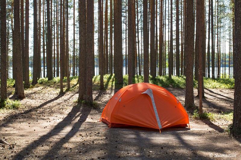 Patvinsuo, teltta