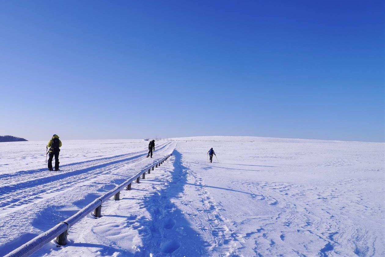 冬の美ケ原 雪原スノーシューハイク