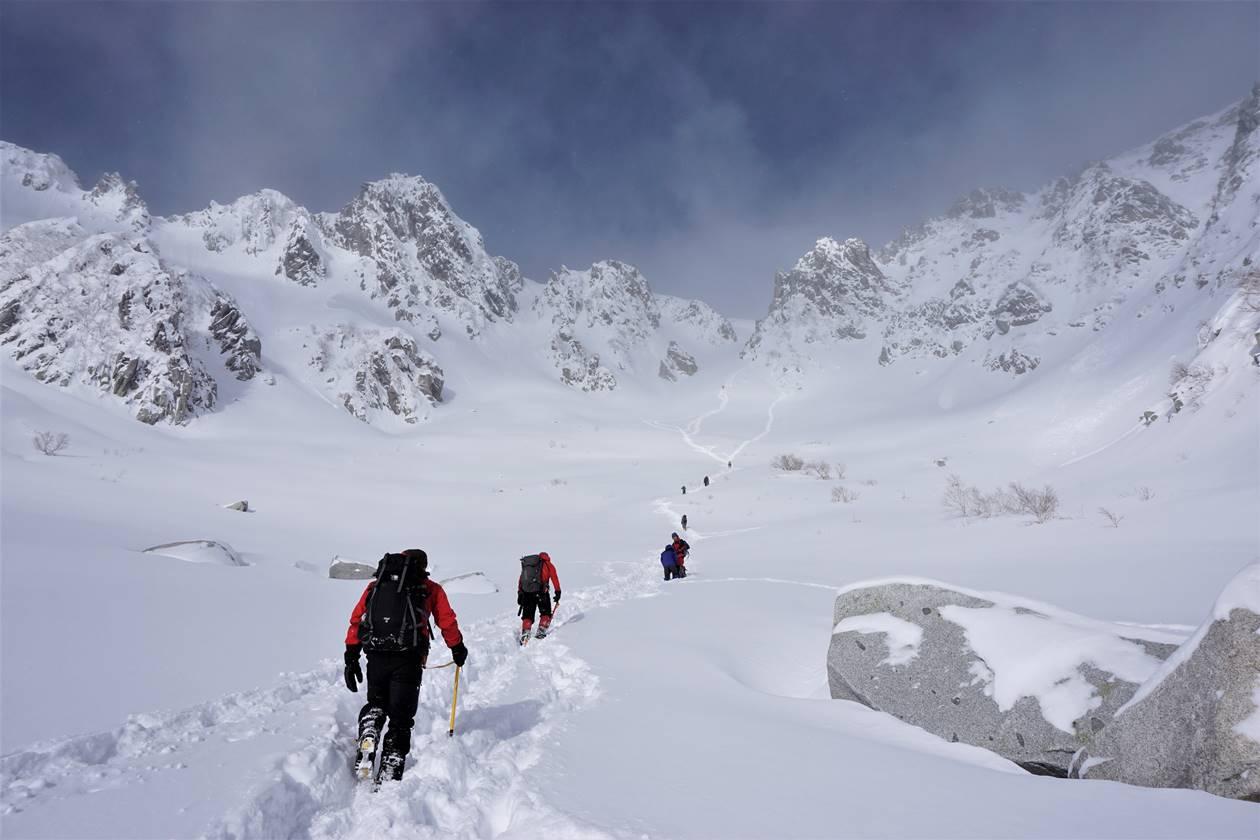 冬の木曽駒ヶ岳 ラッセル雪山登山
