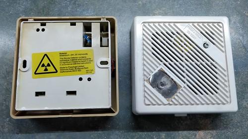 Visibly aged smoke alarms