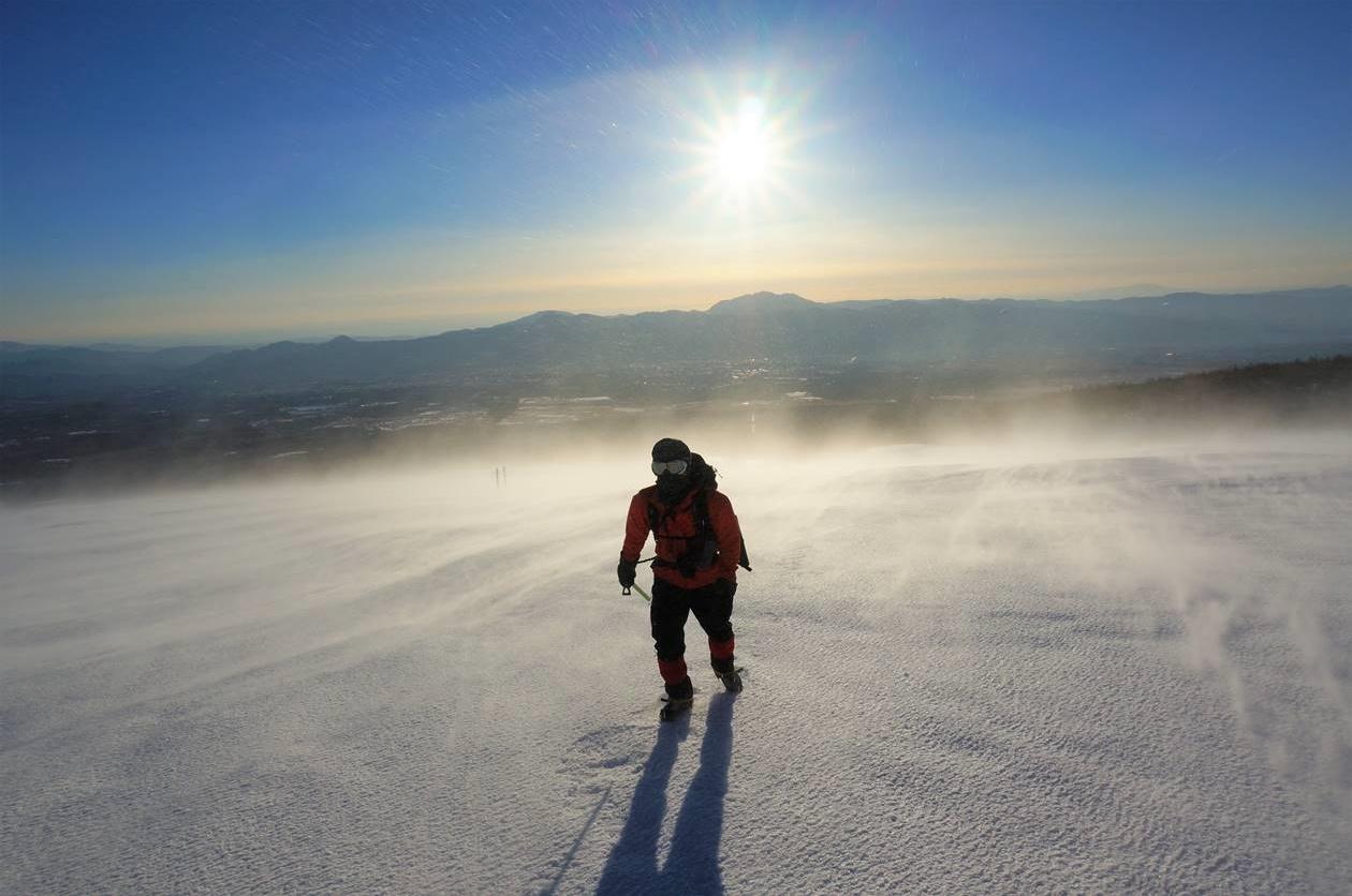 冬の宝永山 雪山登山