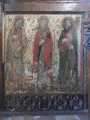 rood screen: St John the Baptist, St Bartholomew, St Matthew