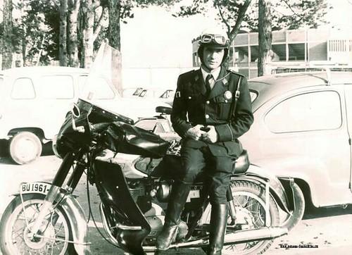 Moto Sanglas policia local Burgos