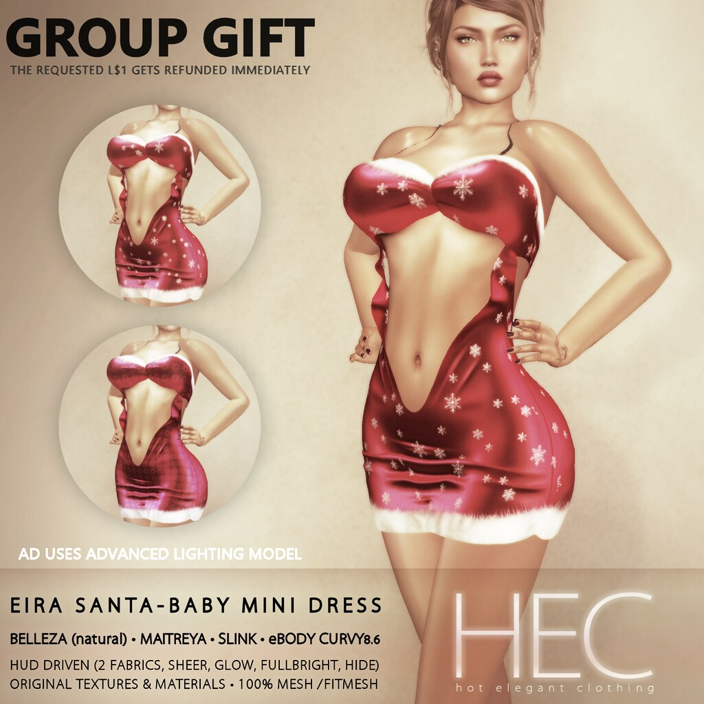 HEC (GROUP GIFT) • EIRA Santa Baby Mini Dress GIFT
