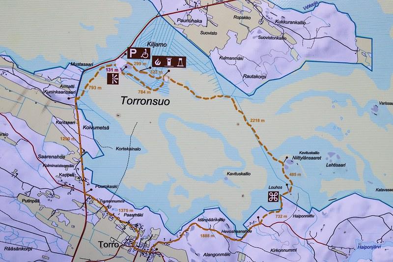 Torronsuon kansallispuisto, kartta