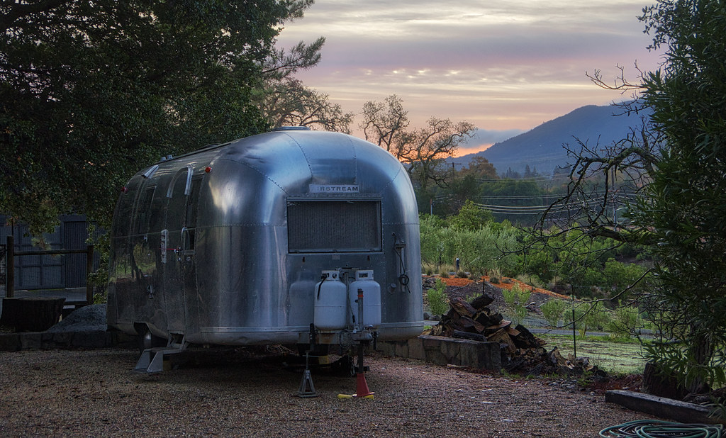 Airstream in the Morning