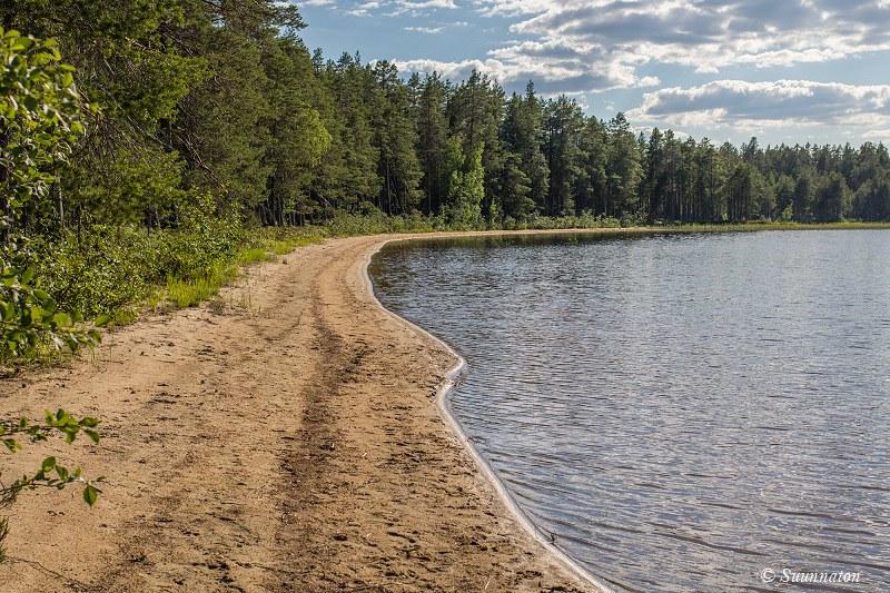 Patvinsuo, Suomunjärvi, Patvinsuon hiekkarannat