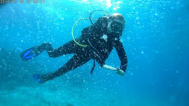 Aqaba, ensimmäistä kertaa sukeltamassa