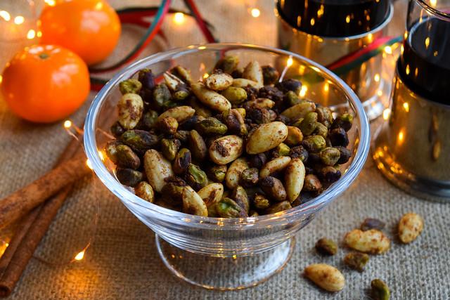 Festive Spiced Almonds & Pistachios
