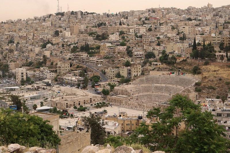 Amman, kaupunki ylhäältä Temple of Hercules