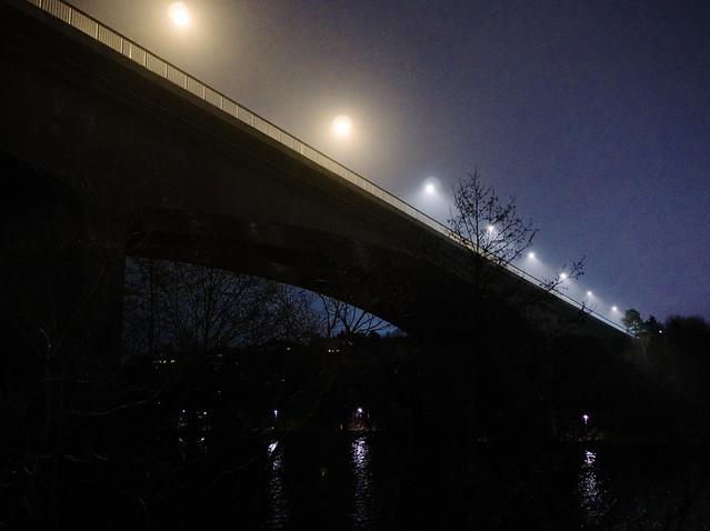 Light spots on bridge