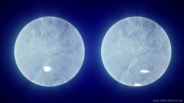 VCSE - A J0030+0451 pulzár hamisszínes felszíntérképe - Forrás: APOD