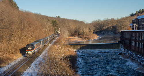 Amtrak Lake Shore Limited (449) with 145 leading in West Warren, MA