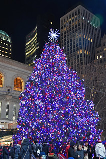 A Picture Of The 2019 Bryant Park Christmas Tree In New York City. The Bryant Park Christmas Tree Was Lit On Thursday December 5, 2019. Photo Taken Friday December 20, 2019