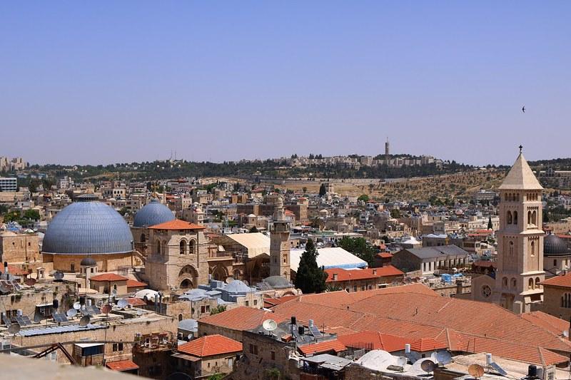 Jerusalem, Pyhän Haudan kirkko David Towerilta