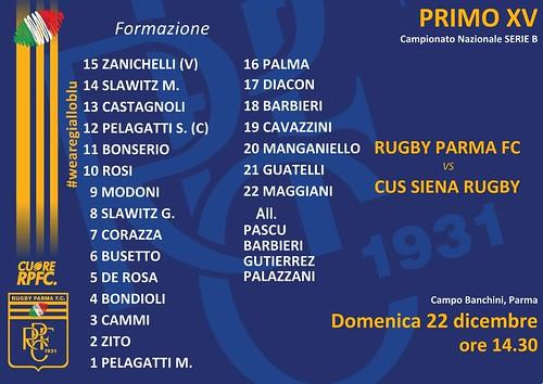 RPFC vs CUS Siena 22.12.19