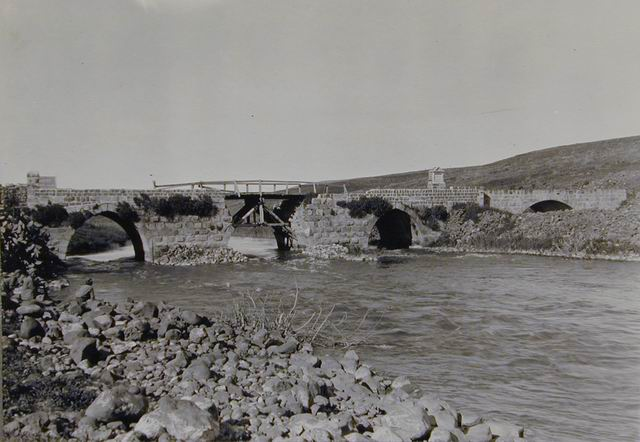 Bnot Yaakov bridge, circa 1919, Creswell Archive