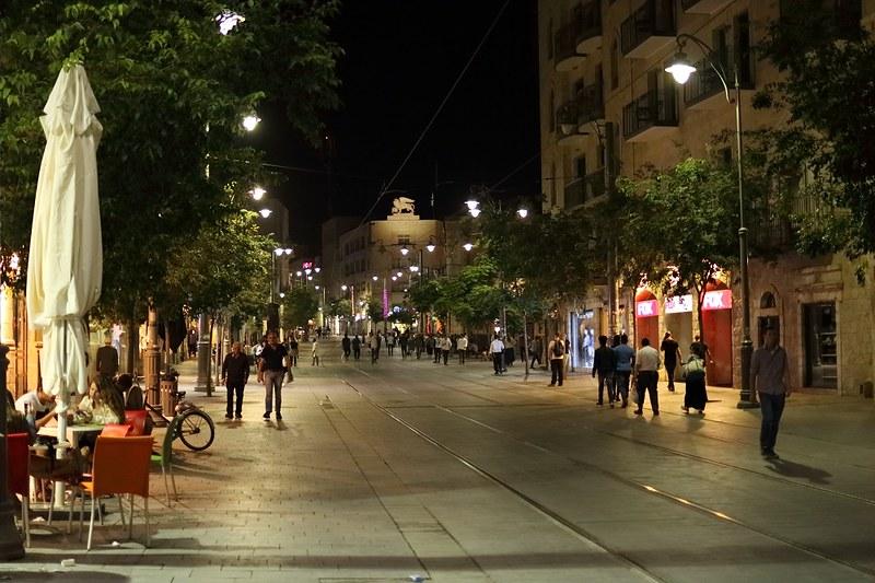 Jerusalem, keskusta illalla