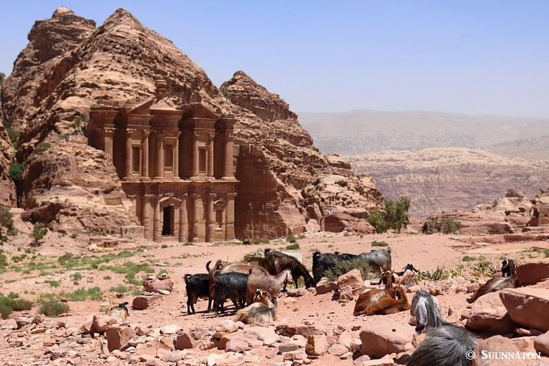 Luostari ja vuohet, Petra