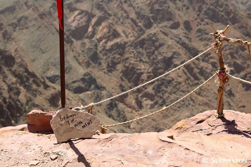 Bedouin tie with ment, Petra