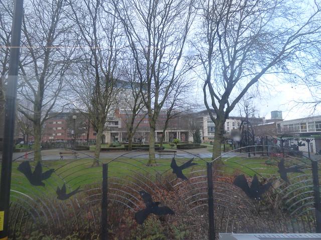 The Peace Garden closed from Bath Row