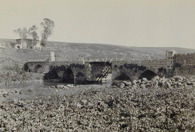 Bnot Yaakov bridge, circa 1918, Creswell Archive