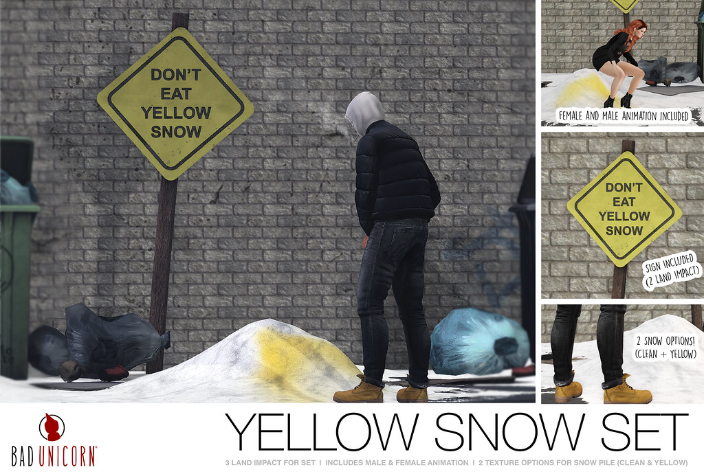 NEW! Yellow Snow Set @ Bad Unicorn mainstore