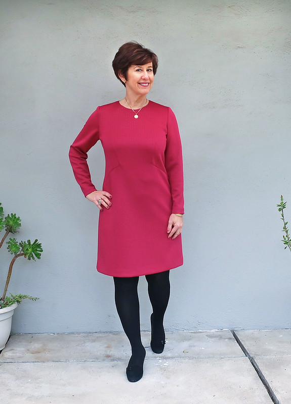 red ponte dress 1
