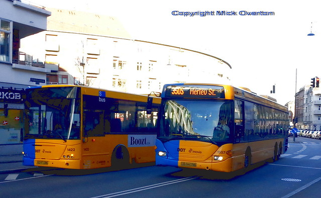 Freshly overhauled 2008 VDL ARRIVA 1422 broken down with total loss of air pressure passed by next 350S 2005 Scania 1557