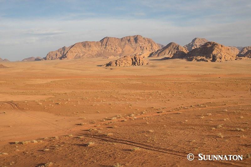 Auringonlasku Wadi Rumissa