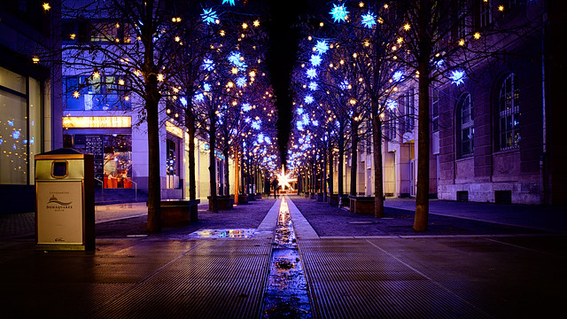 [CT: Festive lights] Follow the star