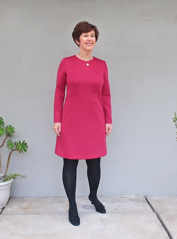Red ponte dress 2
