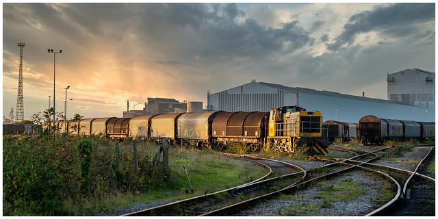 Steelworks sunset