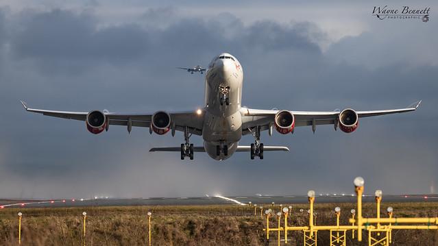 Virgin A340-600 G-VFIT MAN 2019-12-21