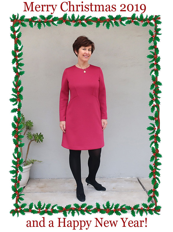 Holiday red dress with garland