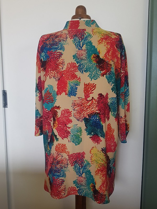 Style Arc Ascot tunic in rayon from The Cloth Shop Ivanhoe
