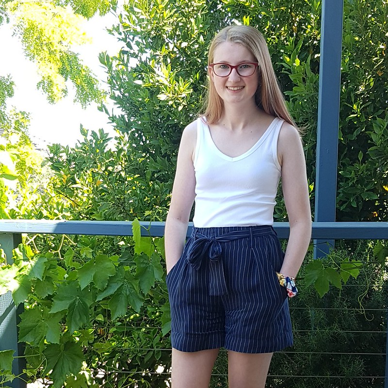 Style Arc Clare pants as shorts