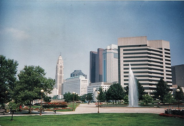 Columbus Ohio - View from The State Capitol - Down