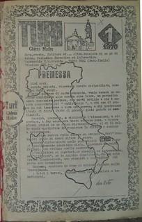 La prima pagina del primo numero