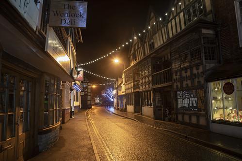 much wenlock edge shropshire england quaint olde worlde british historic vintage morris dancing tudor nikon tamron landscape buildings christmas lights winter village town