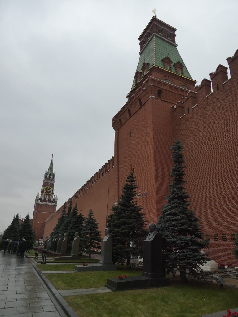 Burial sites along the Kremlin Wall Moscow