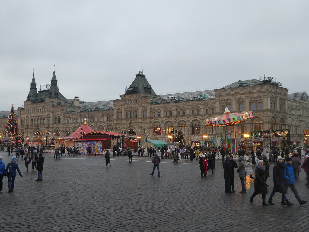 The GUM Department Store and Christmas Market, Red Square