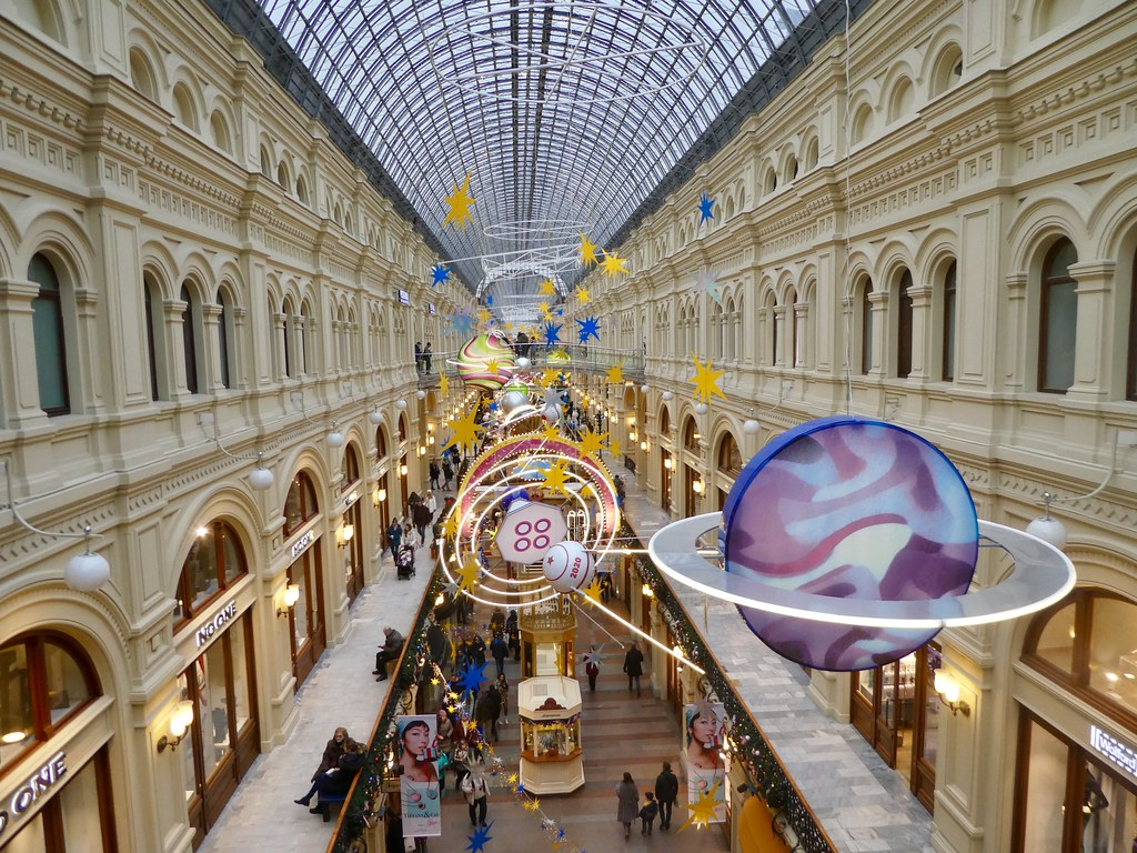 Inside the wonderful GUM Department Store Moscow