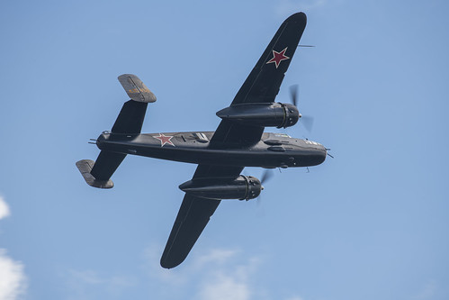 Underside of a Soviet B-25