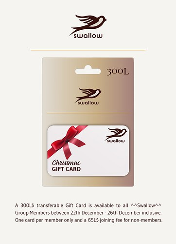 GROUP GIFT - LIMITED TIME - CHRISTMAS GIFT CARD 300L$ (Dec.22th/Dec.26th, 2019)