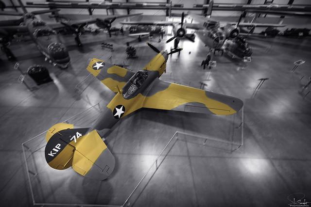 Curtiss P-40E Warhawk USAF in Pima Air & Space Museum - Tuscon - Arizona - USA