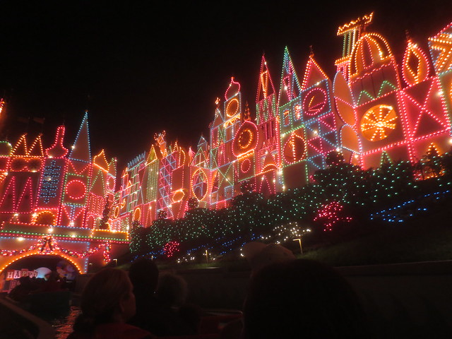 Love the colorful lights on Small World