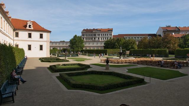 Palace gardens below Prague Castle