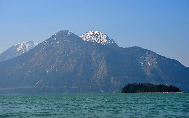 Jachenau - View across the Walchensee