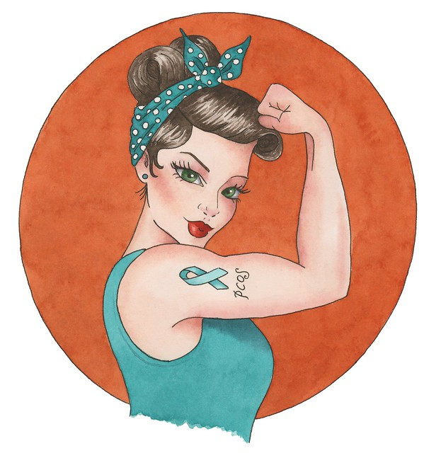 PCOS pinup edited transparent background